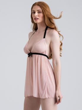 Lovehoney Barely There Blush Pink Babydoll Set
