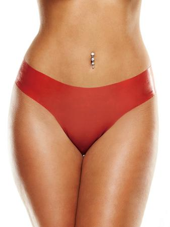 Premium Latex Red Brazilian Panties