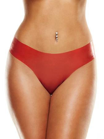 Premium Latex Red Brazilian Panties