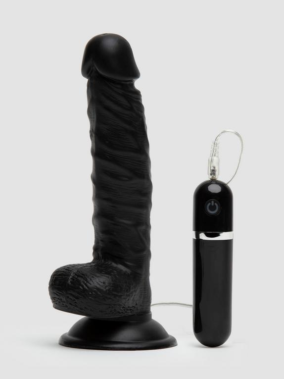 Lifelike Lover Classic Realistic Dildo Vibrator 8 Inch, Black, hi-res