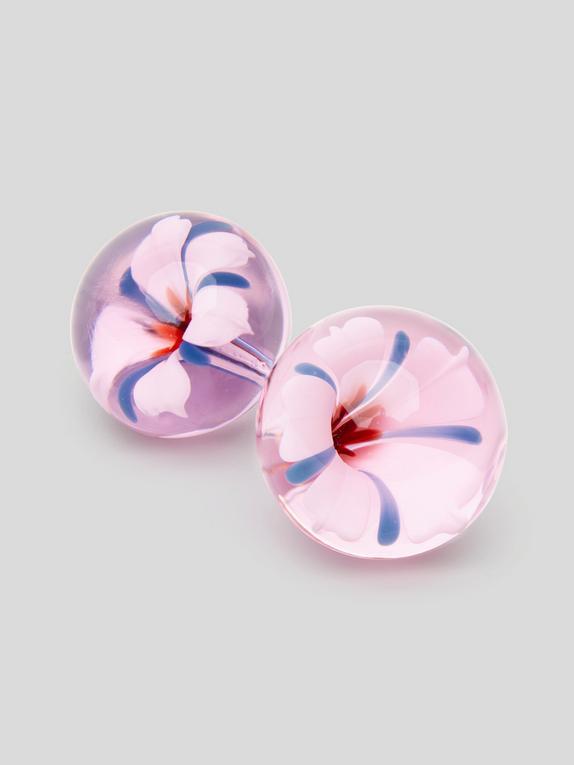 Lovehoney Sensual Glass Blossom Ben Wa Balls, Pink, hi-res