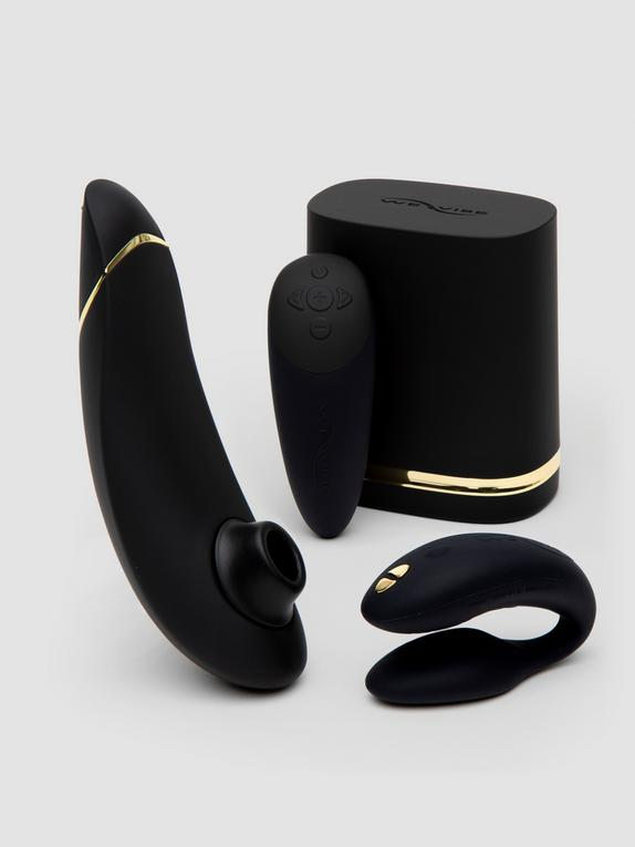 Womanizer X We-Vibe Golden Moments Limited Edition Pleasure Collection, Black, hi-res