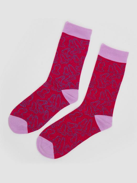 Cocky Socks (Large) , Pink, hi-res