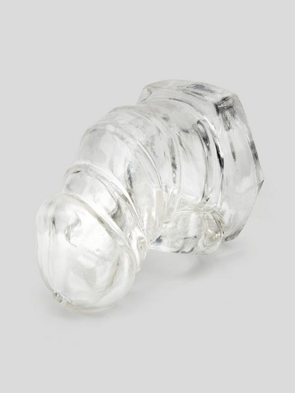 DOMINIX Deluxe Short Soft Cock Cage 3 Inch, Clear, hi-res