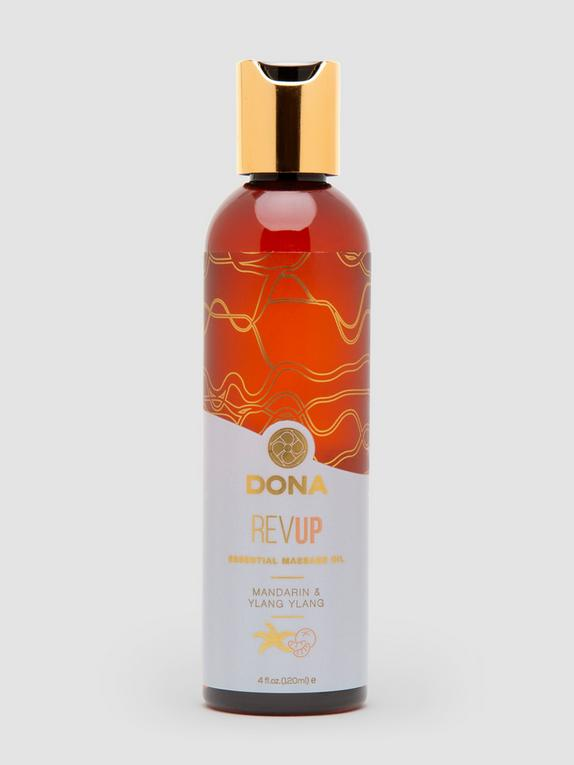 DONA Rev Up Mandarin and Ylang-Ylang Massage Oil 4 fl oz, , hi-res