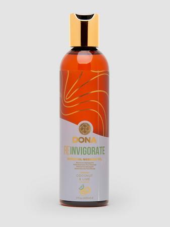 DONA Reinvigorate Coconut and Lime Massage Oil 4 fl oz