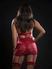 G World Red Lace Zip Front Chemise Set, Red, hi-res