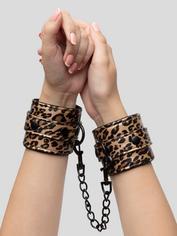 Bondage Boutique Leopard Print Wrist Cuffs, , hi-res