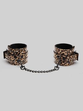 Bondage Boutique Fußfesseln mit Leopardenmuster