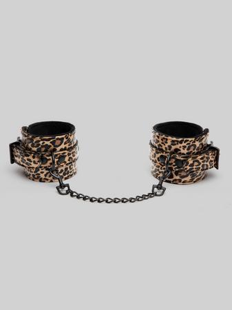 Bondage Boutique Leopard Print Ankle Cuffs