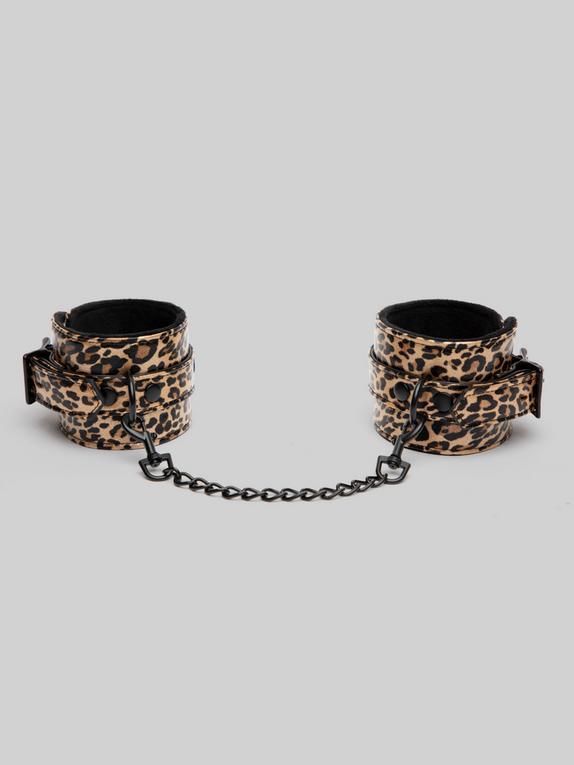Bondage Boutique Leopard Print Ankle Cuffs, , hi-res