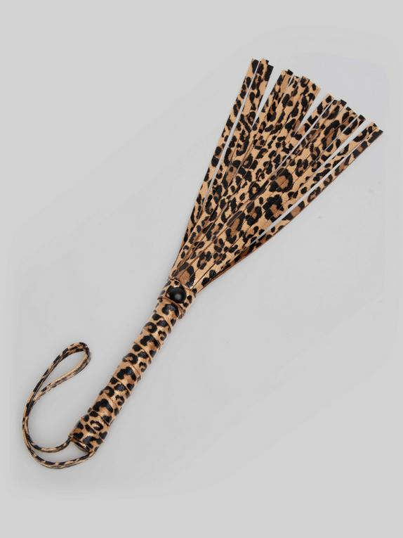 Bondage Boutique Leopard Print Small Flogger, Black, hi-res