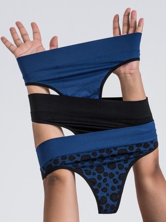 Lovehoney Mindful Blue Seamless Thong Set (3 Pack)