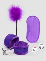 Ouch! Introductory Bondage Kit (4 Piece), Purple, hi-res