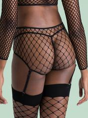 Lovehoney Mindful ECONYL® Fishnet Panties, Black, hi-res