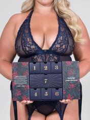 Lovehoney Plus Size 7 Nights of Temptation Lingerie Calendar, Blue, hi-res