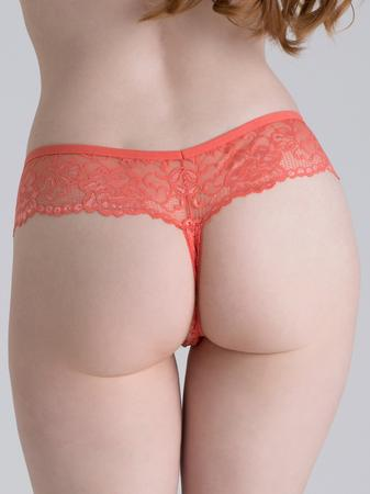 Lovehoney Flirty Coral Lace Thong