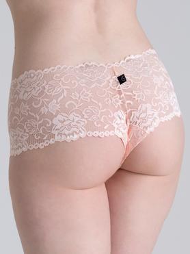 Lovehoney Flirty Pearl Blush Lace Shorts