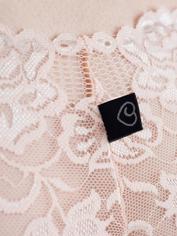 Lovehoney Flirty Black Lace Shorts, Pink, hi-res