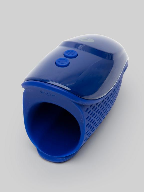 Lovehoney Royal Blue Rechargeable Silicone Male Vibrator, Blue, hi-res