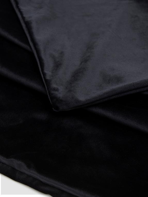 Liberator Liquid Velvet Sheet and Pillow Covers Set (King Size), Black, hi-res