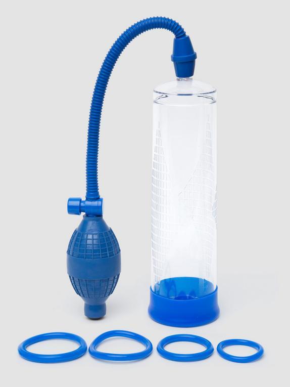 Lovehoney Power Tower Penispumpen-Set 21 cm, Blau, hi-res