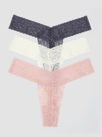 Lovehoney Shimmy and Lace Thong Set (3 Pack)