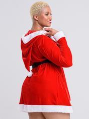 Lovehoney Santa Cutie Red Wrap Dress, Red, hi-res