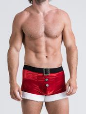 Lovehoney Santa Red Trunks Set, Red, hi-res