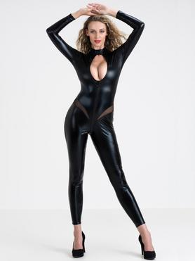 Lovehoney Fierce Wet Look Zip-Around Cut-Out Catsuit