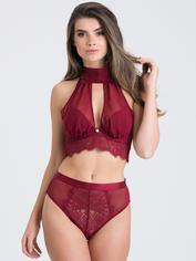 Fifty Shades of Grey Captivate Wine Chiffon Multiway Bra Set, Red, hi-res