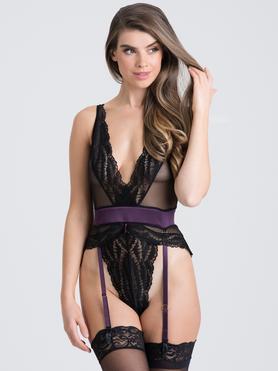 Lovehoney Empress Purple Satin and Lace Body