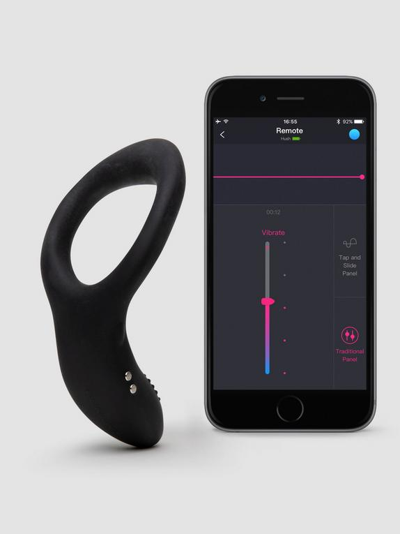 Lovense Diamo App Controlled Rechargeable Cock Ring, Black, hi-res