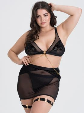 Fifty Shades of Grey Captivate Plus Size BH-Set mit Rock