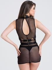 Fifty Shades of Grey Captivate Sheer Dress and Harness Set, Black, hi-res
