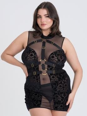 Fifty Shades of Grey Captivate Plus Size Kleid und Harness Set
