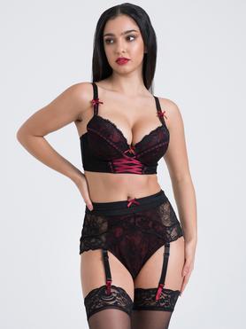 Lovehoney Twilight Rose Black Lace Bra Set