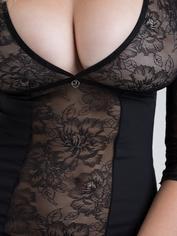 Vestido de manga tres cuartos Hourglass de Lovehoney, Negro , hi-res
