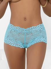 Escante Tropical Sky Blue Lace Shorts, Blue, hi-res
