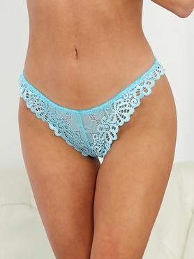 Escante Tropical Sky Blue Lace Tanga Briefs