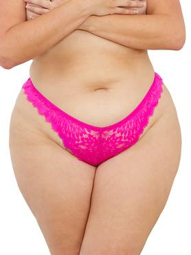 Escante Hot Pink Lace Tanga Briefs