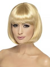 Fever Blonde Bob Wig with Fringe , Blonde, hi-res