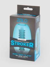 Zolo Textured Bubble Reversible Mini Stroker, Blue, hi-res