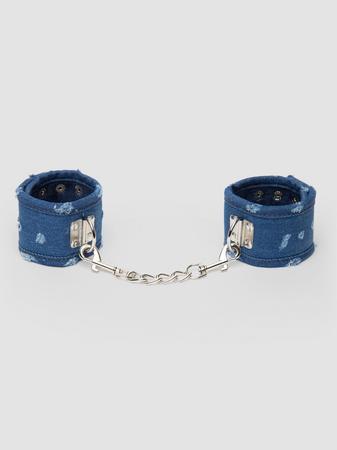 Ouch! Worn Denim Handcuffs