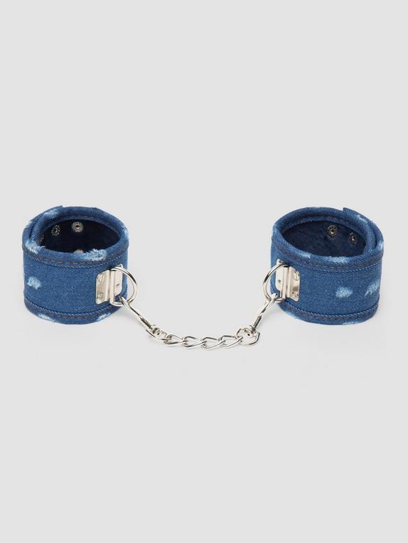 Ouch! Worn Denim Ankle Cuffs, Blue, hi-res