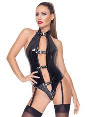 Black Level PVC Open Front Body, Black, hi-res
