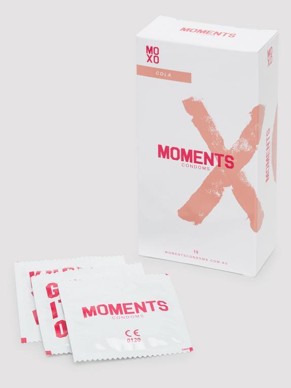 Moments Cola Flavoured Vegan Latex Condoms (10 Pack), , hi-res