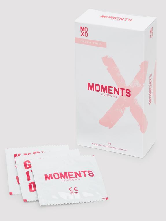 Moments Ultra-Thin Vegan Latex Condoms (10 Pack), , hi-res