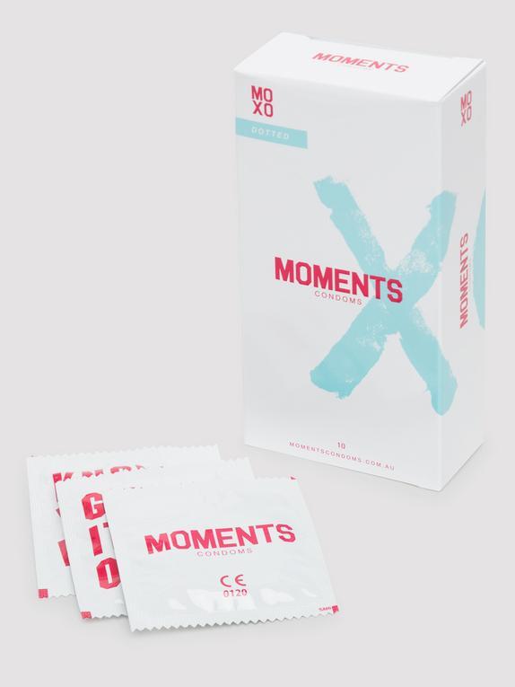Moments Dotted Vegan Latex Condoms (10 Pack), , hi-res