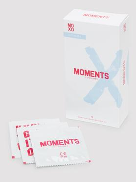 Moments Ultimate Ribbed and Dotted Vegan Latex Condoms (10 Pack)